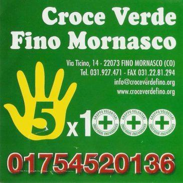 Fai un gesto d'amore per permetterci di aiutare: dona il tuo 5×1000 alla Croce Verde!