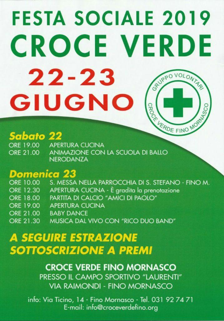 locandina festa croce verde