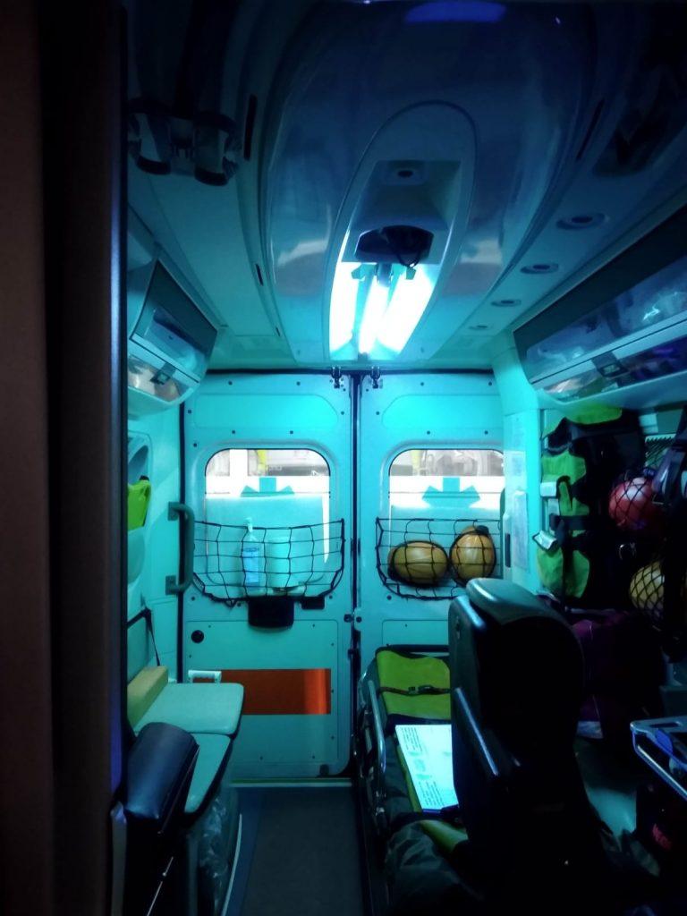 sterilaire_emettitore_uvc_ambulanza