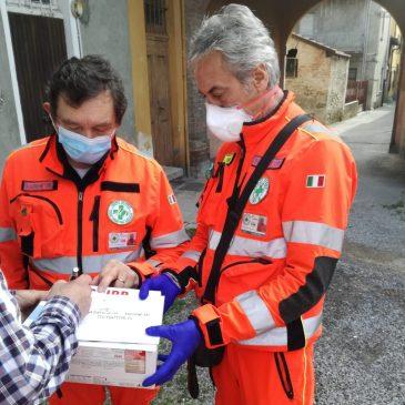 La Croce Verde aiuta l'amministrazione comunale nella distribuzione di mascherine e buoni spesa