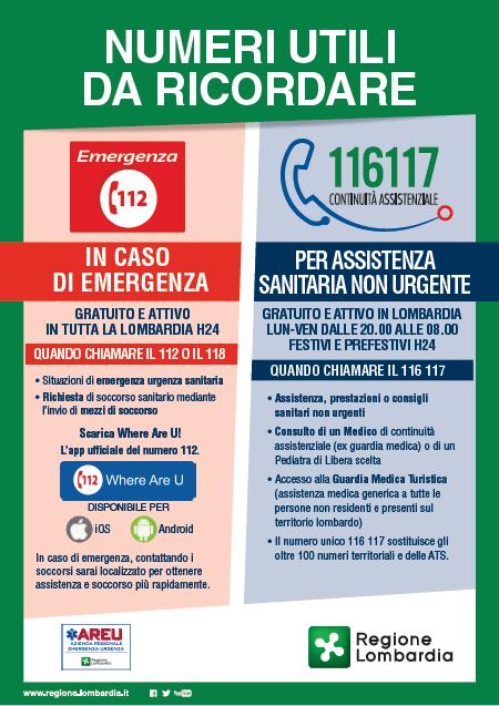 Chiama il 116 117 per Assistenza Sanitaria non urgente