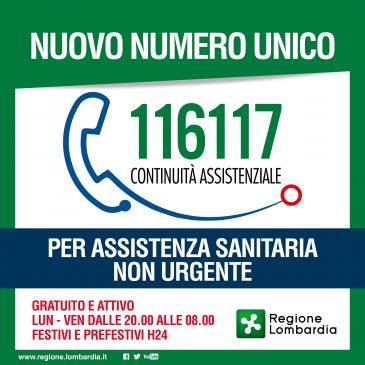 """116.117: il nuovo numero unico per la Continuità Assistenziale (ex """"Guardia Medica"""")"""
